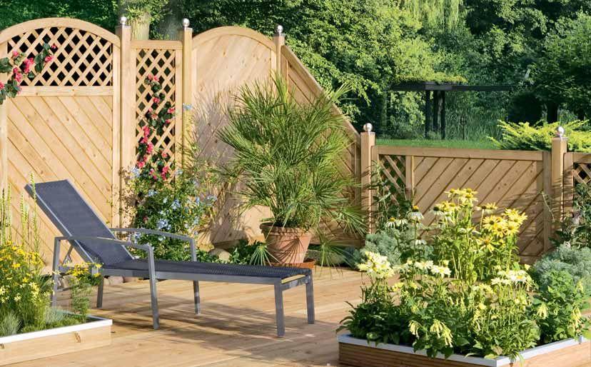 Kreative Ideen und Systeme aus Holz für Garten und Terrasse