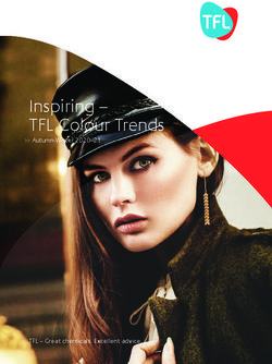 Inspiring - TFL Colour Trends - Autumn-Winter 2020-21