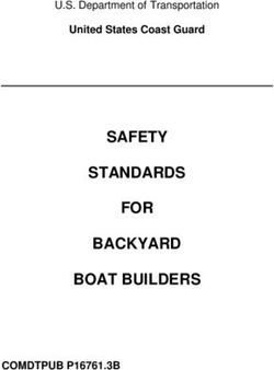 SAFETY STANDARDS FOR BACKYARD BOAT BUILDERS