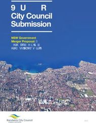 Randwick City Council Submission - NSW Government Merger Proposal