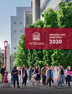 uOTTAWA - 2020 PROGRAMS AND ADMISSIONS