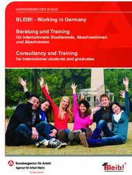 BLEIB! - Working in Germany Beratung und Training
