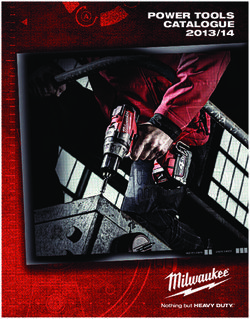 Milwaukee Power Tools Catalogue 2013/14