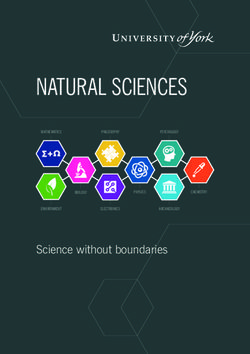 Natural Sciences - University of York