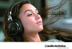 audio-technika - Personal Audio Catalogue 2016