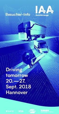20.-27. Driving tomorrow Sept. 2018 Hannover