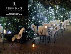 Events brochure autumn-winter 2016/2017 Renaissance Paris Le Parc Trocadero Hotel