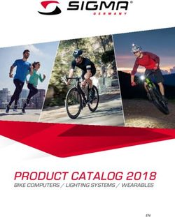 Sigma Product Catalog 2018 - Bike Computers / Lighting Systems / Wearables