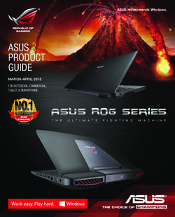 Asus Product Guide. March-April 2015. For Notebook, Commercial, Tablet & Smartphone.