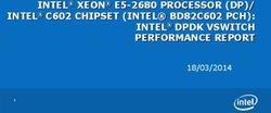 INTEL XEON E5-2680 PROCESSOR DP/ INTEL C602 CHIPSET INTEL BD82C602 PCH: INTEL DPDK VSWITCH PERFORMANCE REPORT
