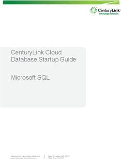 CenturyLink Cloud Database Startup Guide Microsoft SQL