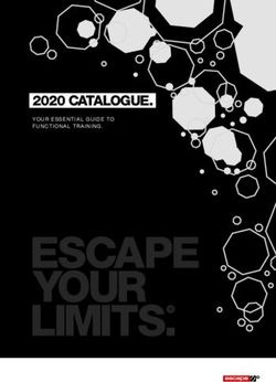 ESCAPE 2020 CATALOGUE - YOUR ESSENTIAL GUIDE TO FUNCTIONAL TRAINING