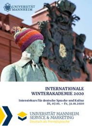 INTERNATIONALE WINTERAKADEMIE 2020