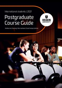 Postgraduate Course Guide 2021 - International students - DEAKIN UNIVERSITY