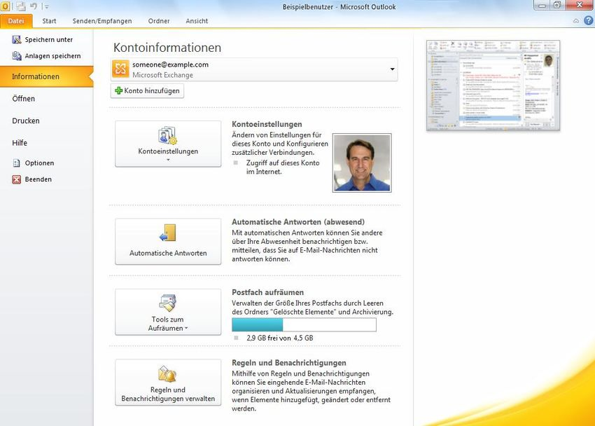 Microsoft Outlook 2010 Produkthandbuch