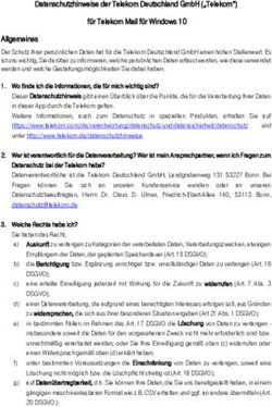 Datenschutzhinweise Der Telekom Deutschland Gmbh Telekom Für