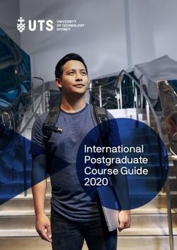 International Postgraduate Course Guide 2020 - UNIVERSITY OF TECHNOLOGY SYDNEY