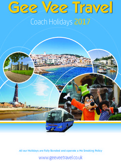 Gee Vee Travel - Coach Holidays 2017