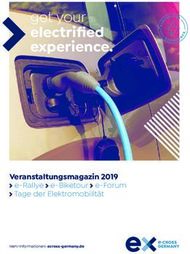 Electrified experience - get your - Veranstaltungsmagazin 2019 - e-CROSS GERMANY