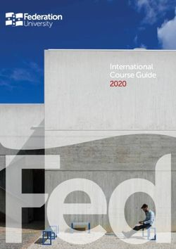 Federation University - International Course Guide 2020