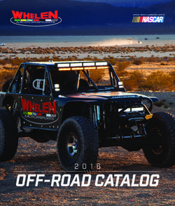 Whelen Motorsports. 2016 Off-Road Catalog.