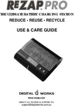 USE & CARE GUIDE - REDUCE REUSE RECYCLE