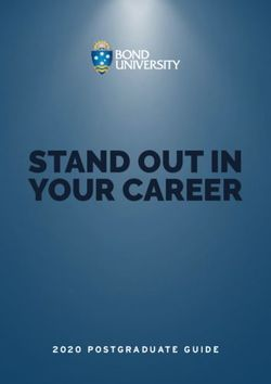 STAND OUT IN YOUR CAREER - 2020 POSTGRADUATE GUIDE - BOND UNIVERSITY