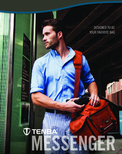Tenba Messendger. Designed to Be Your Favorite Bag.
