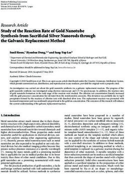 Research Article Study of the Reaction Rate of Gold Nanotube Synthesis from Sacrificial Silver Nanorods through the Galvanic Replacement Method