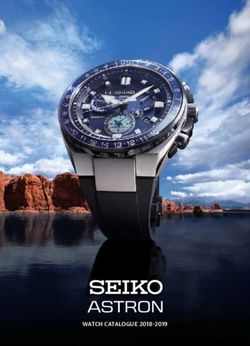 SEIKO ASTRON WATCH CATALOGUE 2018-2019