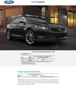 2016 Ford Taurus. Trailer Towing Selector.