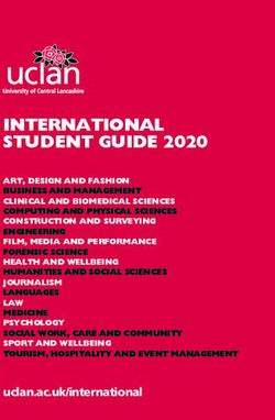 INTERNATIONAL STUDENT GUIDE 2020 - University of Central Lancashire