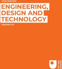 ENGINEERING, DESIGN AND TECHNOLOGY - YOUR 2020/2021 PROSPECTUS - The Open University