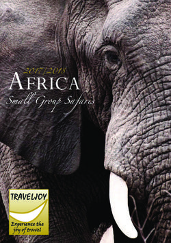 Small Group Safaris Africa 2017/2018 - Traveljoy
