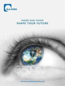 SHAPE YOUR FUTURE SHARE OUR VISION - Graduates Brochure 2019