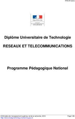 07f6ff2cba30cc Diplôme Universitaire de Technologie RESEAUX ET TELECOMMUNICATIONS  Programme Pédagogique National