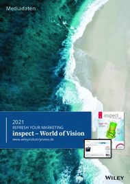 Inspect - World of Vision - 2021 REFRESH YOUR MARKETING - Mediadaten - Wiley ...