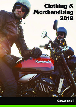 Clothing & Merchandising 2018 - Kawasaki